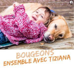 """Tiziana fait un """"slow"""" sur Hudson, son chien d'éveil"""
