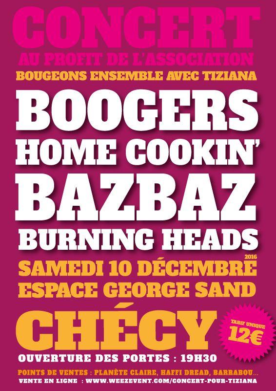 Concert pour Tiziana à Chécy le 10 décembre